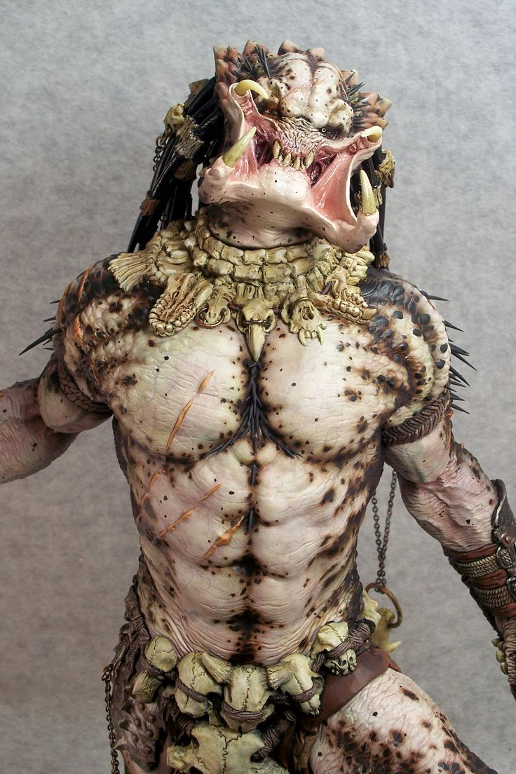 Bare chested and striped of his weapons, this Predator is ready to hunt its prey the old fashioned way...