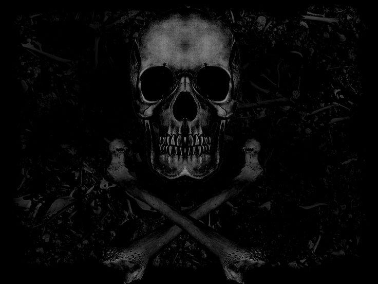 Dark Skull and Crossbones #crossbones #skull