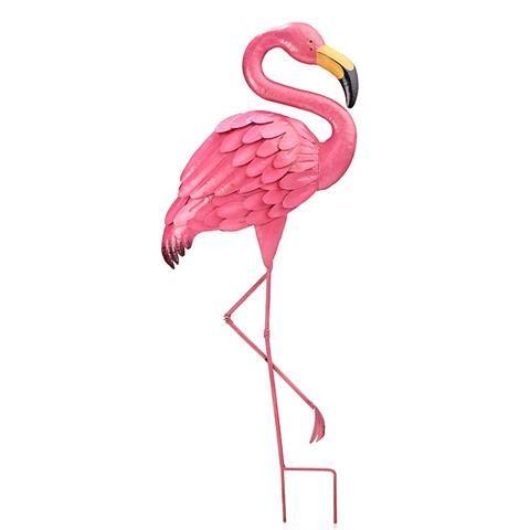 Metal Garden Ornament Pink Flamingo Kmart Greenery