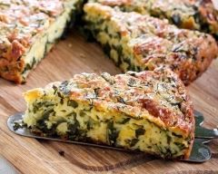 Quiche sans pâte aux épinards ultra simple