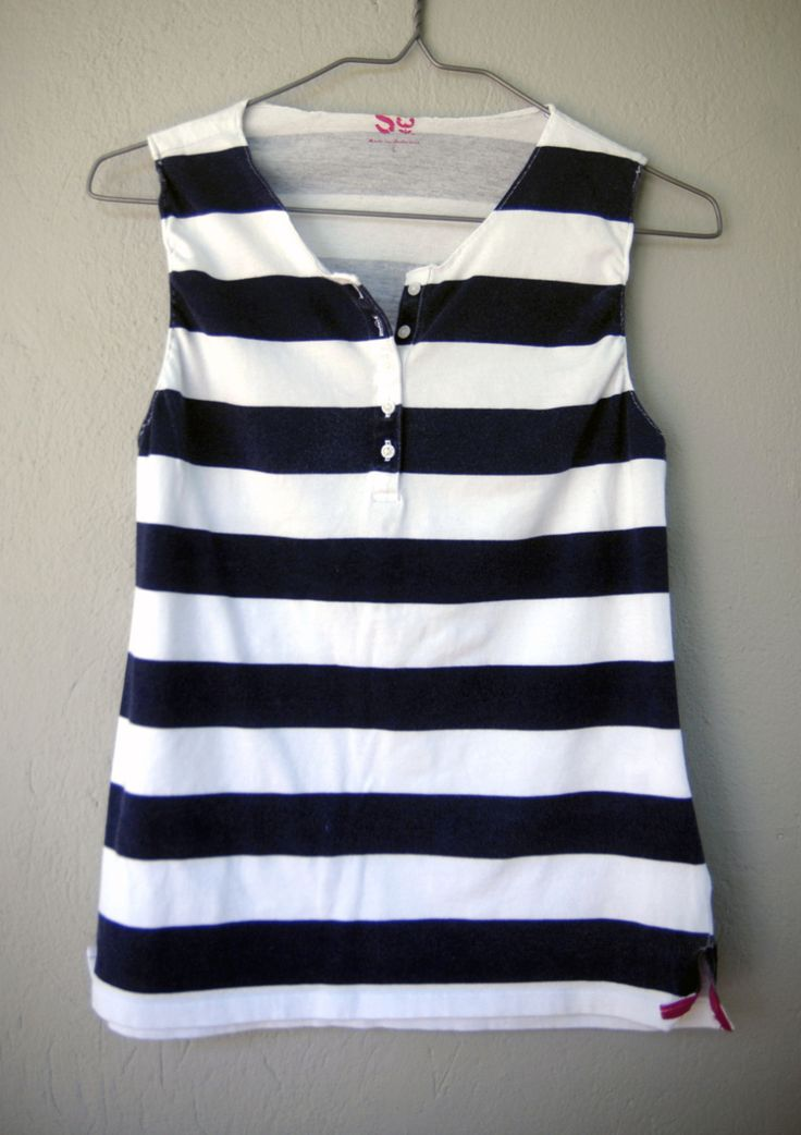 polo shirt refashioned to tank | photosarah crafts