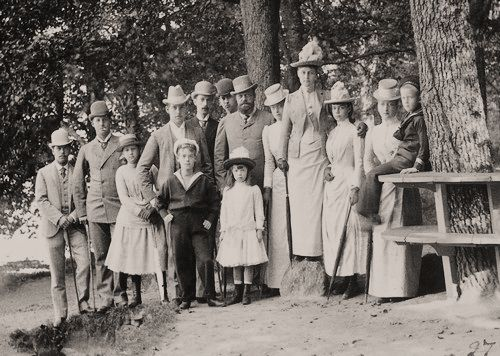 Tsar Alexander III with his children and others