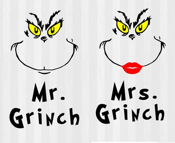 Mr and Mrs Grinch Svg Grinch svg svg files for by 5StarClipart