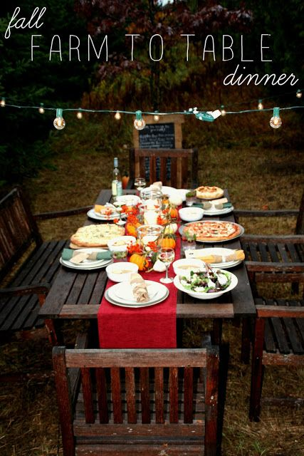 A Fall Farm To Table Dinner Runners Napkins And Red