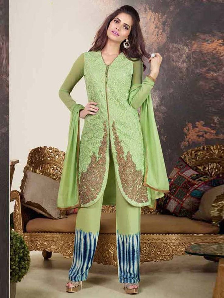 Look more beautiful and stylish than any body else.  Item Code: SLHPV8604  http://www.bharatplaza.com/new-arrivals/salwar-kameez.html