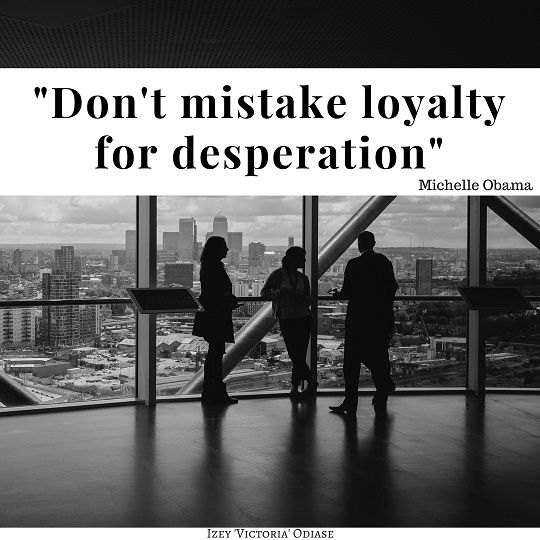 """""""Don't mistake loyalty for desperation."""" Michelle Obama. . . Appreciate those who don't give up on you. . . . . #MichelleObama #Obama #Advice #Employee #Friend #Loyal #Loyalty #RideorDie #Desperation #MarriageAdvice #Relationship #Friendship #Appreciation #Appreciate #Friends #Family #Girlfriend #Boyfriend #Employees #Entrepreneur #Success #Quotes #Motivation #Inspiration #Quotes #BestQuotes #MotivationalQuotes #In"""