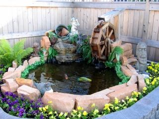 Wooden Water Wheel Plans For Your Garden Pond Or Flower Picture Structures Pinterest And