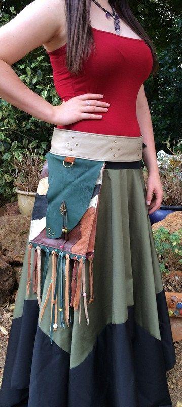 Handmade leather festival belt / hip bag / by HippieGypsybyCherie