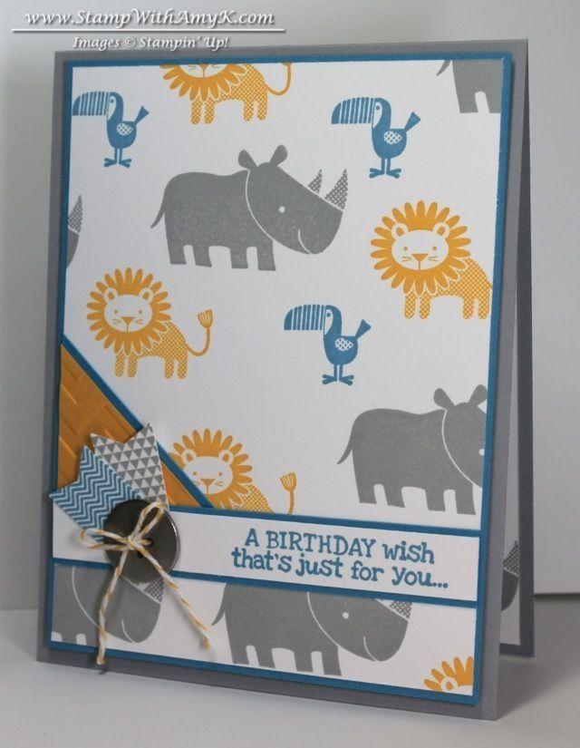 zoo babies birthday card  u0026 stamp night with stampin u0026 39  up