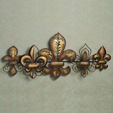 Fleur De Lis Metal Wall Art French Tuscan Decor Fleur De Lis Sculpture Part 77