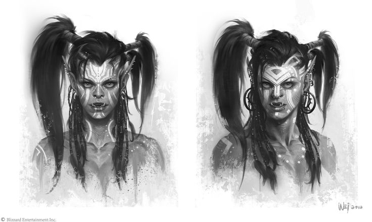 ArtStation - The Art of Warcraft Film - Garona, Wei Wang