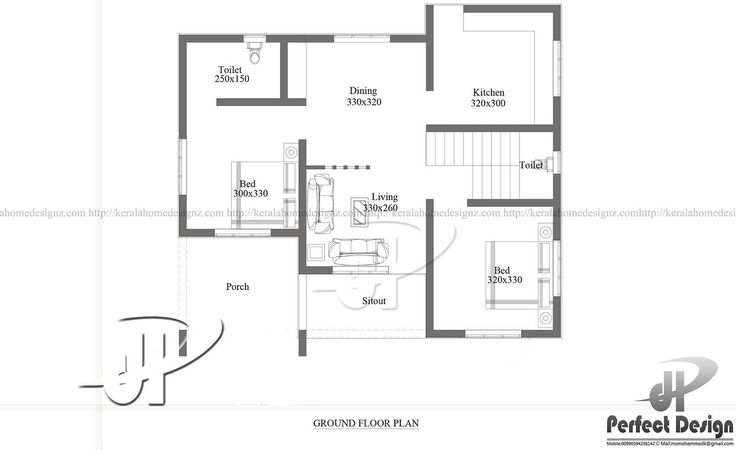 one story house with roof deck floor plan