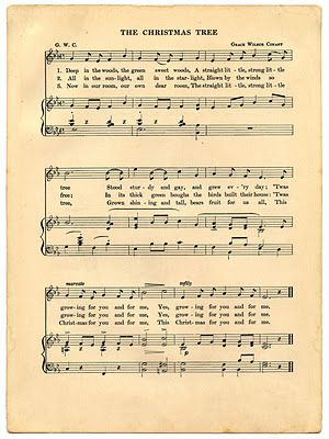 Vintage sheet music freebie print