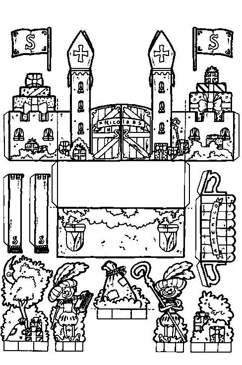 Sinterklaas kasteel bouwplaat