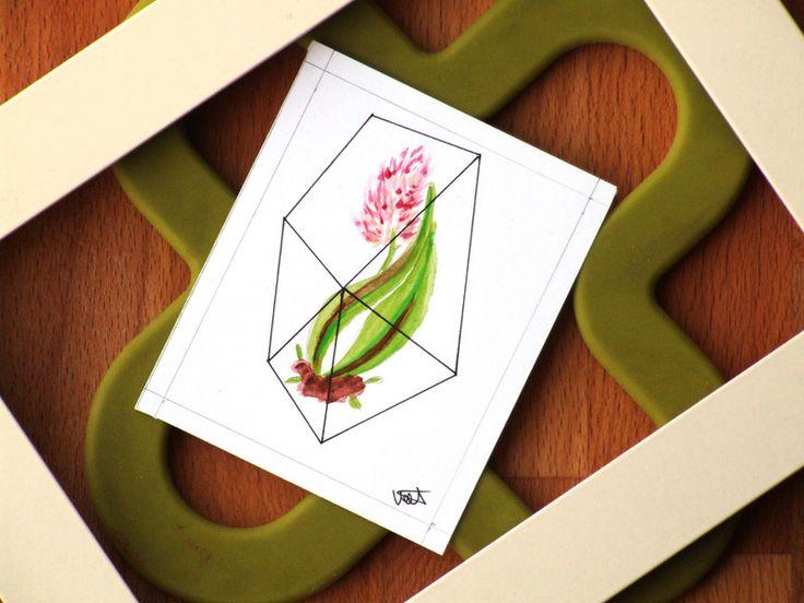 ACEO Mini quadro con tulipano di Valeria Daws su DaWanda.com
