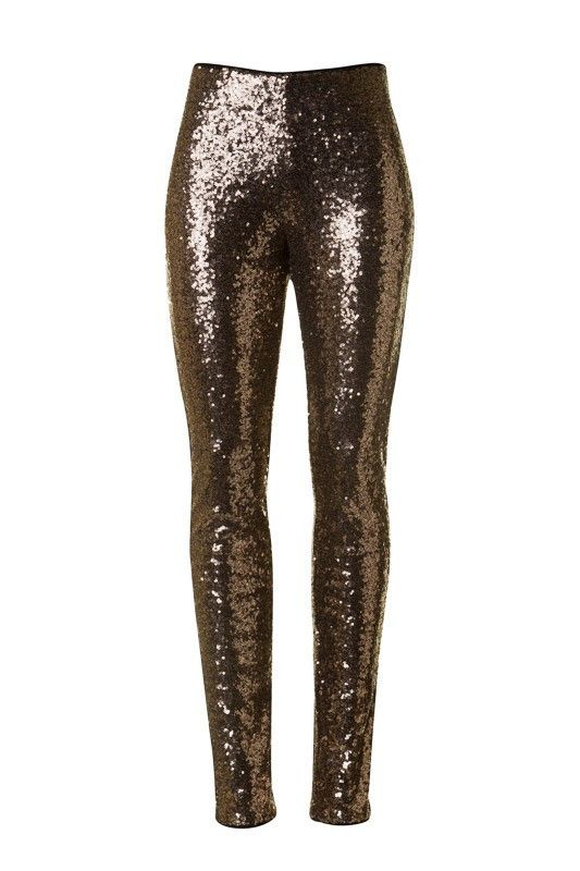"You're sure to be the center of attention when you rock our ""Join The Party"" Sequin Leggings! Perfect for a Holiday party, or any special occasion for the upcoming season. These gold leggings can be e"