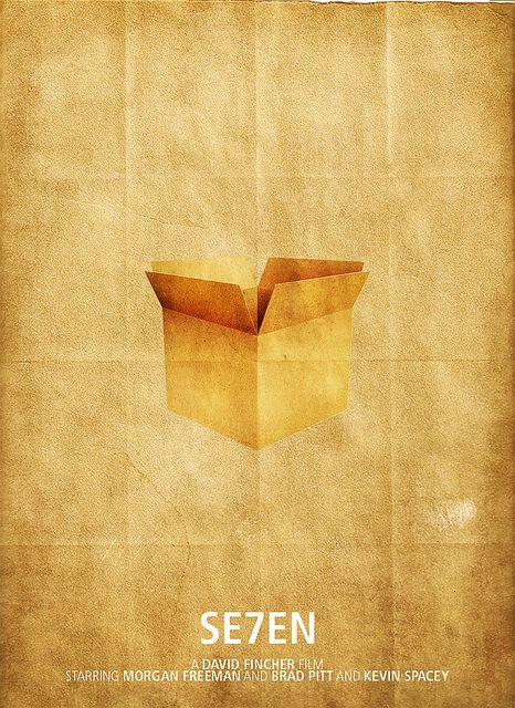 Se7enCardboard Boxes, Minimalist Movie Posters, Basements Art, Posters Design, Minimalist Art, Film Posters, Alternative Movie, Minimalist Poster, Cinematic Movie
