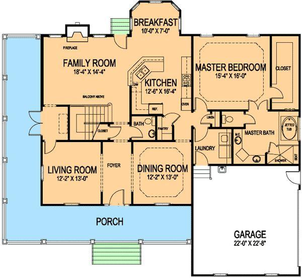 Plan Wdc Southern Country Farmhouse Corner Lot House