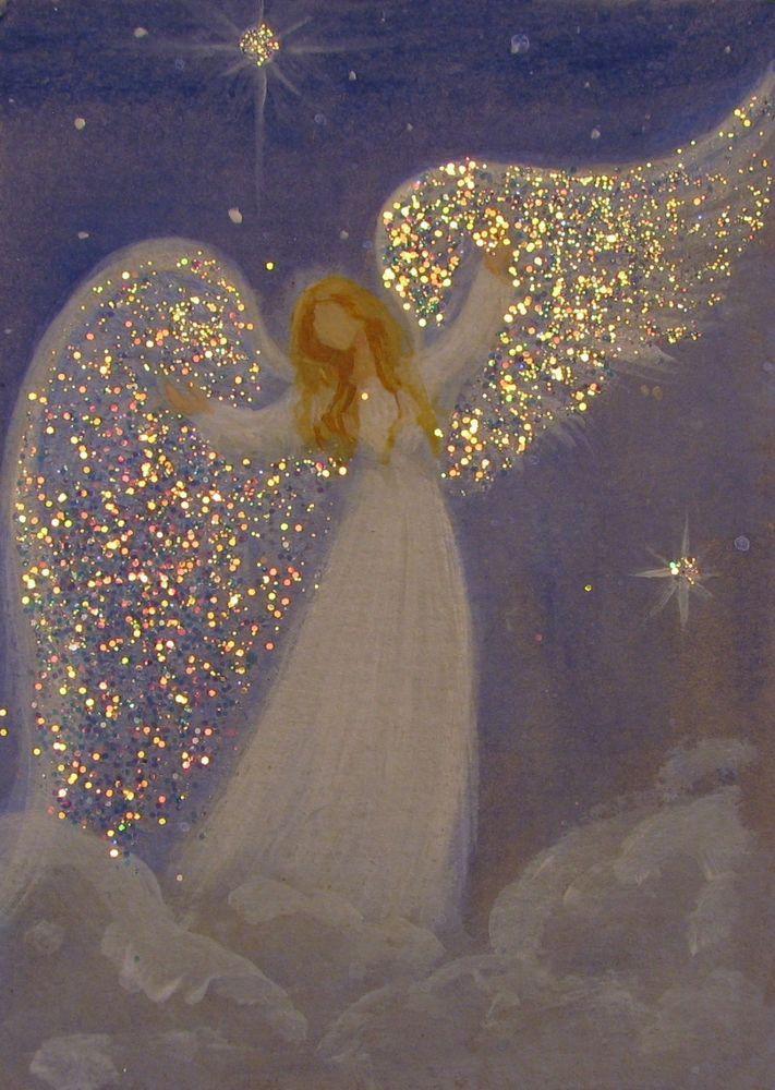 ACEO Original Angel Painting Spiritual Inspirational Healing Energy by Breten Bryden, BrydenArt.com #Angels