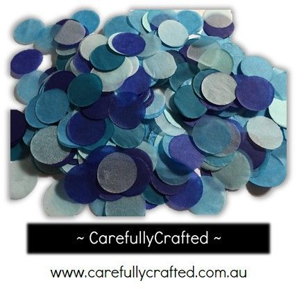 CarefullyCrafted - 25 Grams Tissue Paper Confetti - Blue Shades - 1 inch Circles  - confetti, paper pieces, circles, confetti, blue, blue confetti, wedding, wedding planning, party, event, event décor, decoration, tableware, circle confetti http://carefullycrafted.com.au/25-grams-tissue-paper-confetti-blue-shades-1-inch-circles-cc6/