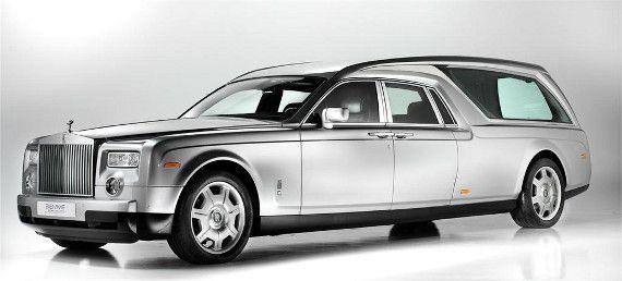 Rolls Royce Phantom Hearse - we all gotta go, might as well go in style!!