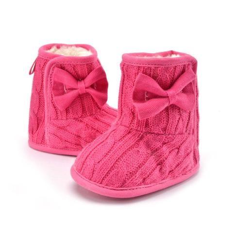 de2766be8070 Plus Velvet Warm Newborn Baby Shoes Winter Baby Girls First Walkers Soft  Soles Non-slip