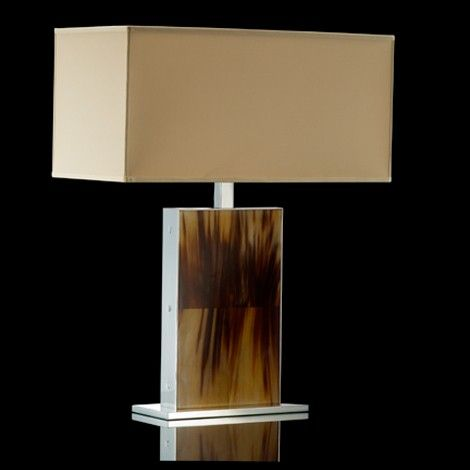 Perfect Arca Table Lamp 1203   Horn U0026 Chrome Base Source: NestCasa