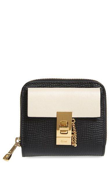 red chloe handbag - Drew\u0026#39; Calfskin \u0026amp; Lambskin Leather Square Wallet   Lambskin Leather ...