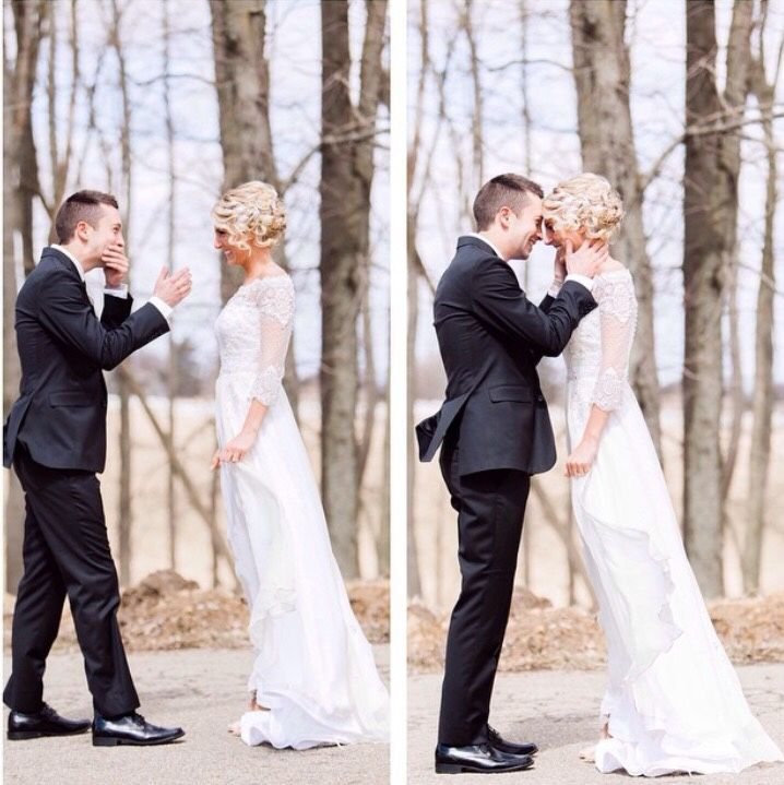 Joseph wedding first look. This is beautiful. Congrats Tyler and Jenna!