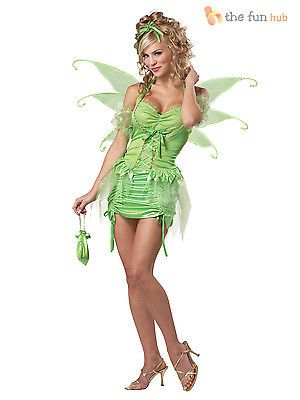 Deluxe #adult #womens sexy tinkerbell fairy fairytale ladies #fancy dress costume, View more on the LINK: http://www.zeppy.io/product/gb/2/181473818139/