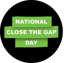 Close the gap - a contemporary campaign looking at closing the life-expectancy gap between Indigenous and non-Indigenous Australians.