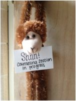 Cute idea for letting others know you are in a session! School Counseling Office - Elementary School Counseling!
