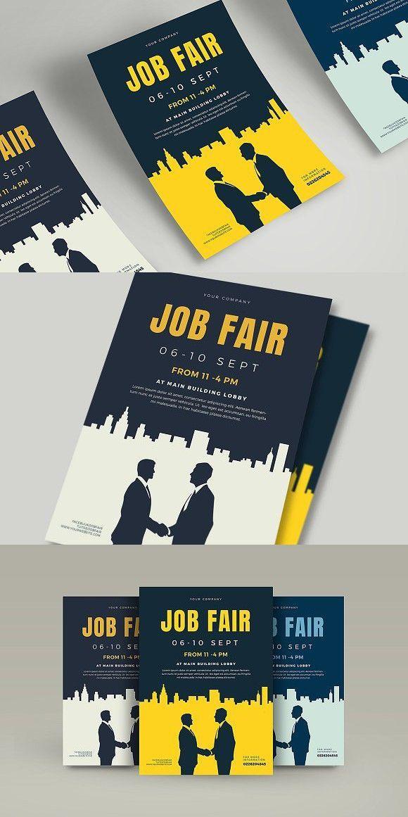 Job Fair Flyer Template Advertising Job Ideas Of Advertising Job Advertisingjob Advertising Job Fair Flye Flyer And Poster Design Job Fair Job Poster