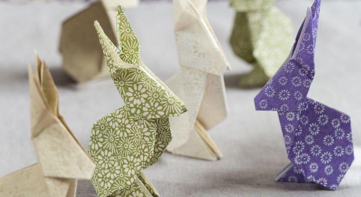 Un lapin en origami en étapes à télécharger