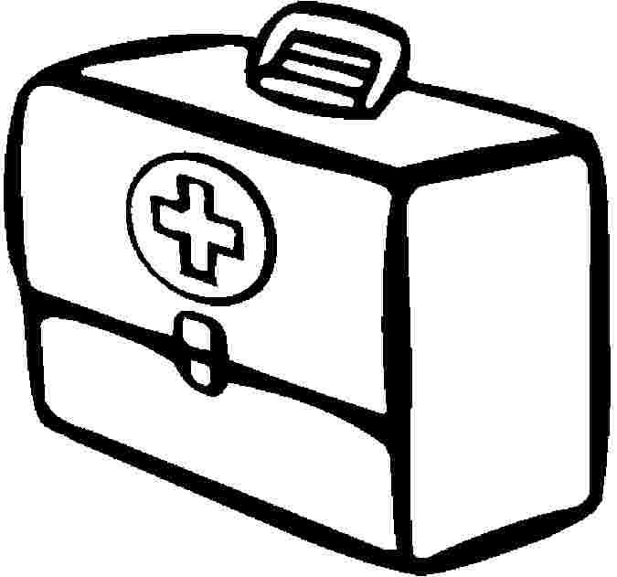 First Aid Kit Coloring Pages Free Firstaid In 2020 Coloring