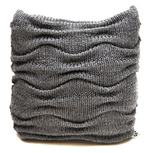 Scatter Knit Cushion Grey, £39, now featured on Fab.