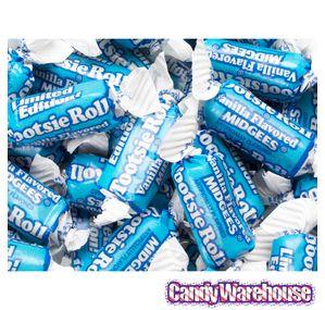 Vanilla Tootsie Rolls Candy: 1LB Bag.  I didn't know they made vanilla tootsie rolls.  Love the color.
