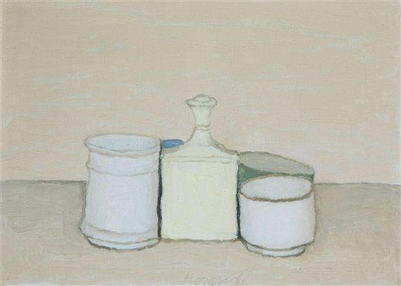 Natura Morta - Giorgio Morandi I love thr simplicity here. Little to no modeling/shading