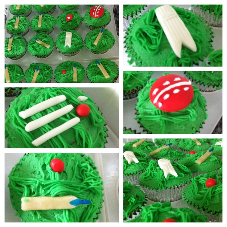 My 4 yo son is sporting mad! We just had his 4th Birthday party which was cricket themed. I made cricket cupcakes that were a real hit!