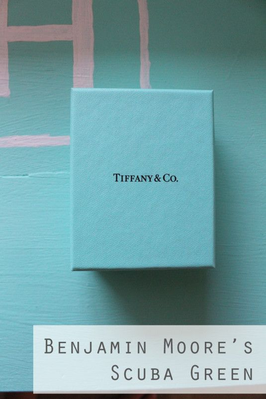 Tiffany Blue.......If you're looking to match that hue, try this Scuba Green by Benjamin Moore.