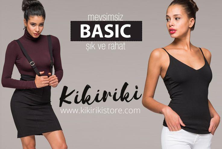 Mevsimin değil, 4 mevsimin vazgeçilmezi, rahatlığı ve şıklığı bir arada arayanlara Kikiriki'den BASIC koleksiyonu  #basic #rahat #sik #atlet #bluz #bustiyer #etek #kazak #tayt #comfortable #stylish #athlete #blouse #bustier #skirt #tights #fashion #moda #design