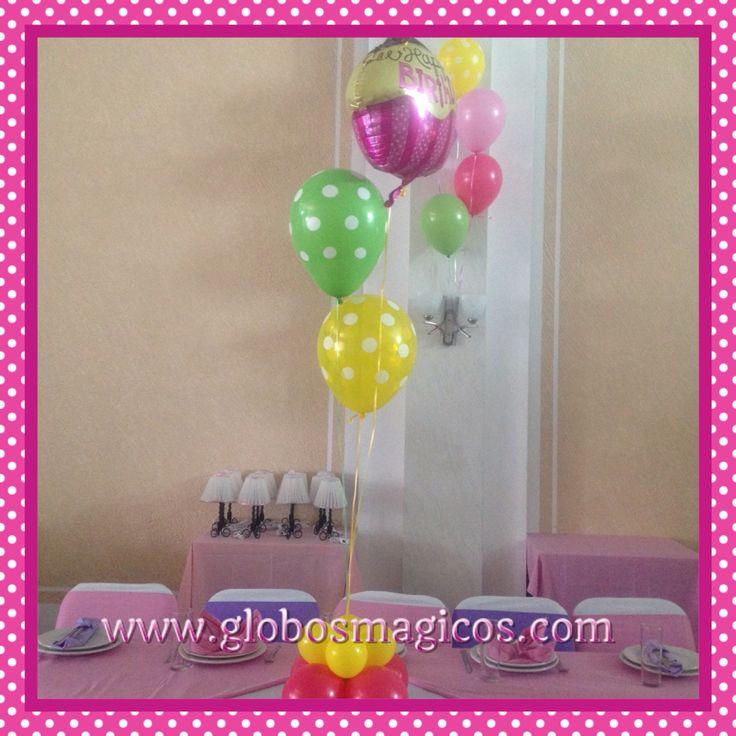 Globos con gas helio para mesas