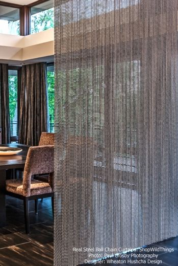Beautiful Real Steel Ball Chain Curtains