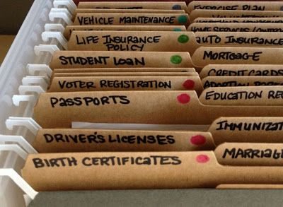 Diary of a Fit Mommy: Ways to Organize Your Personal Files for Married Life