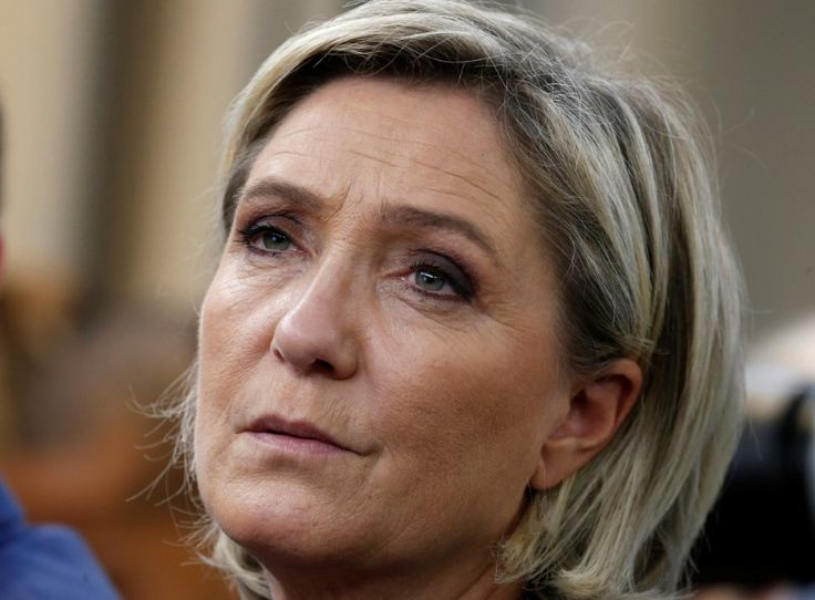 French National Front leader Marine Le Pen attends a FN political debate in Paris