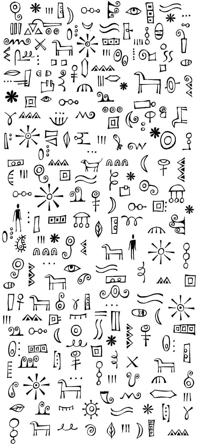More Doodles that you can put together to make your own designs.