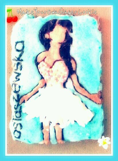 homemade gingercookie with icing made of only natural products. Cookie made for a great polish dress desighner Kama Ostaszewska.