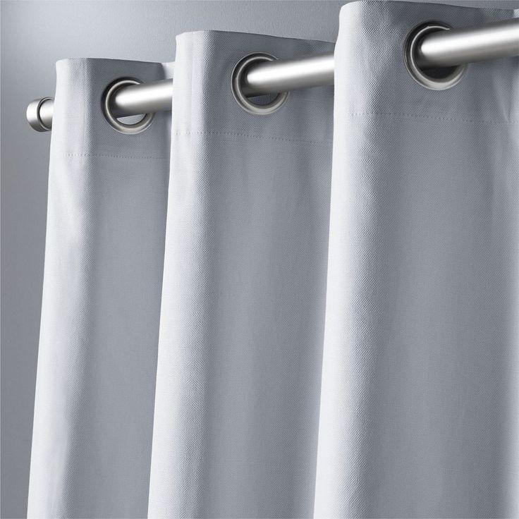 "basketweave silver grey curtain panel 48""""x108"""""
