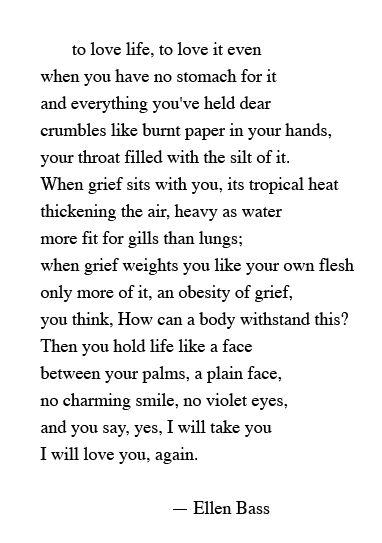I will take, I will love you, again.