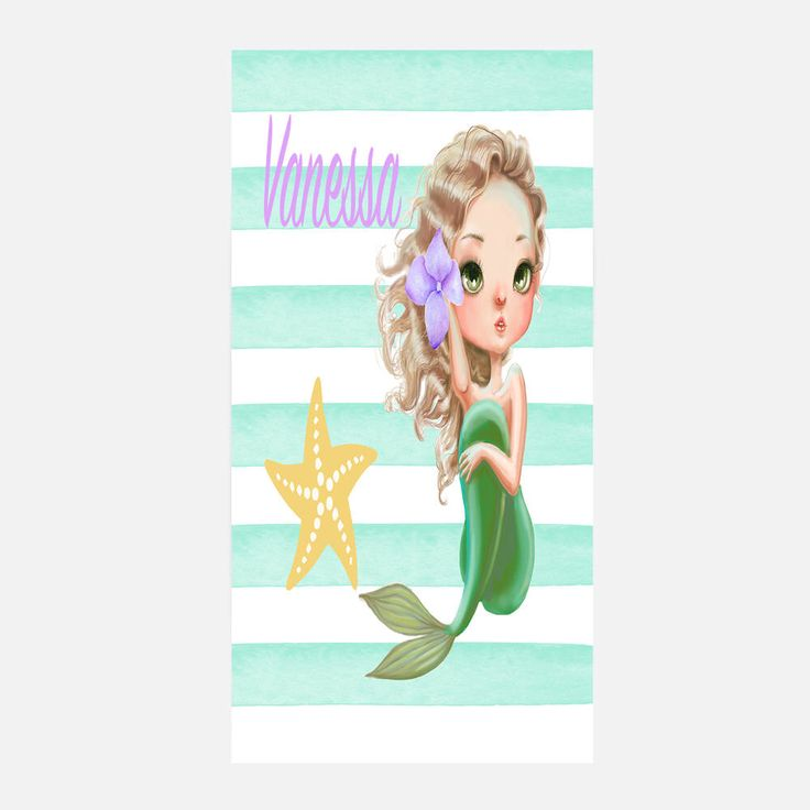 Personalized mermaid beach towel, Mermaid towel, Personalized beach towel, Beach towel, Mermaid beach towel, Kids beach towel, Pool towel by JolieJomelieDesigns on Etsy https://www.etsy.com/listing/537731661/personalized-mermaid-beach-towel-mermaid